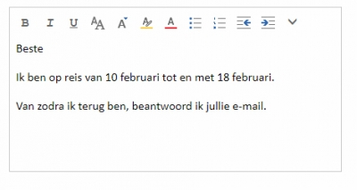 Automatisch antwoord in Outlook