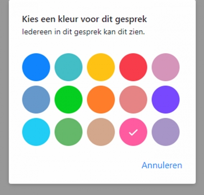 Facebook II: chatkleur wijzigen in Messenger