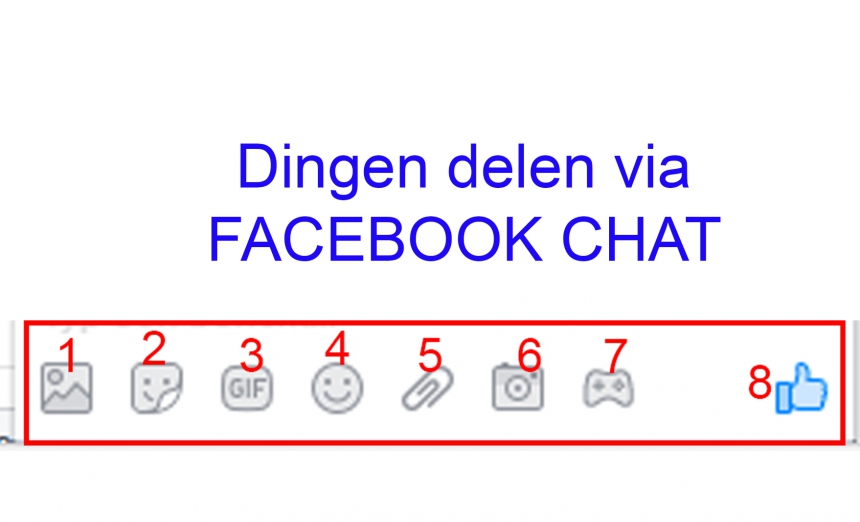 Facebook: dingen delen via chat