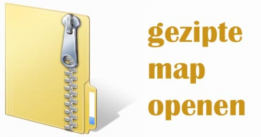 Gezipt bestand openen in Windows