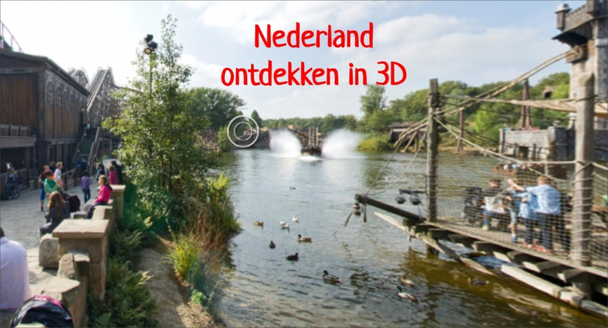 Nederland: pretparken en attracties in 3d