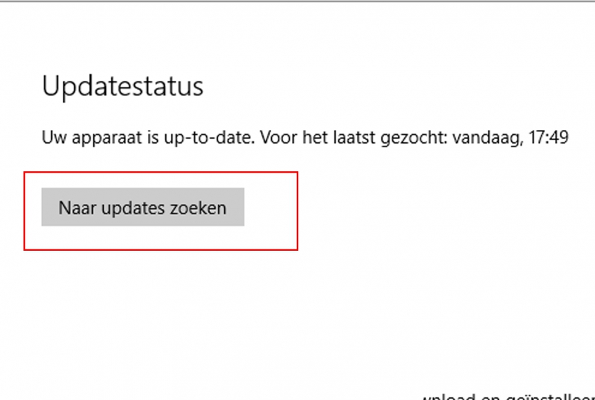 Software updaten in Windows 10