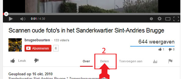 Video op youtube embedden